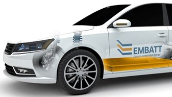 Beim EMBATT-Projekt sollen Lithium-basierte Hochleistungsbatterien direkt im Chassis des Fahrzeugs integriert werden.