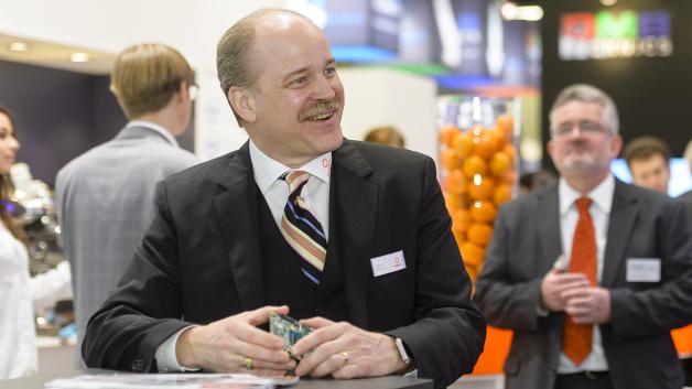Jason Carlson stellte sich gestern auf der embedded world als CEO der Öffentlichkeit vor.