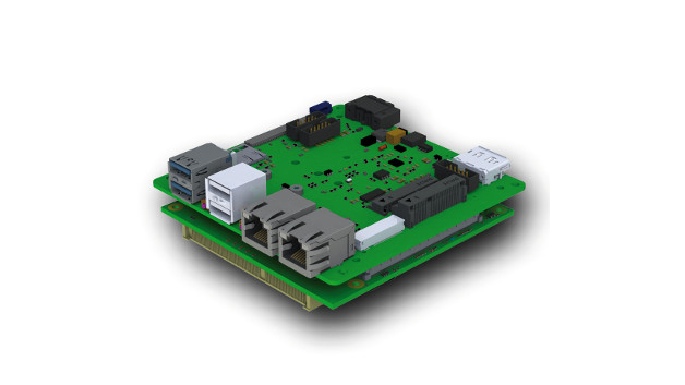Das Mainboard MB115 von IES nutzt COM-Express-compact-Module für eine sehr hohe Skalierbarkeit.