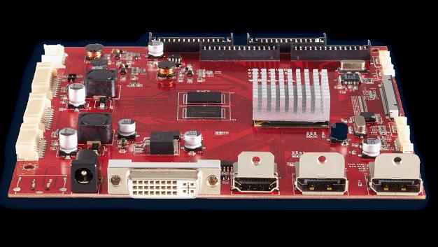 Data Modul hat seine eMotion Baureihe erweitert. Hier ist die UHD-Variante mit ihren vier Eingängen (DVI, HDMI und 2x eDP) gezeigt.