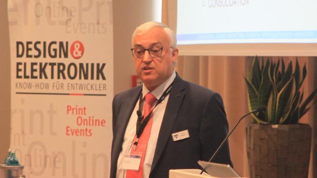 Johan Vandoorn, Vishay, auf dem Anwenderforum Passive Bauelemente 2016.