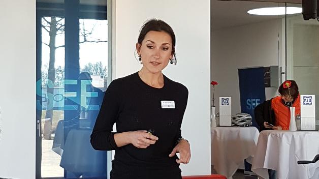 """Malgorzata Wiklinska, Leiterin der ZF-Denkfabrik: """"Auf dem Weg zum autonomen Fahren ist Sicherheit ein zentraler Faktor. Von unserer Technologie könnten aber schon bald alle Verkehrsteilnehmer profitieren."""""""