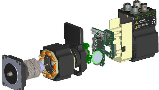 Das Innenleben eines Mitglieds der Schrittmotoren-Familie MIS23 von JVL Industri Elektronik