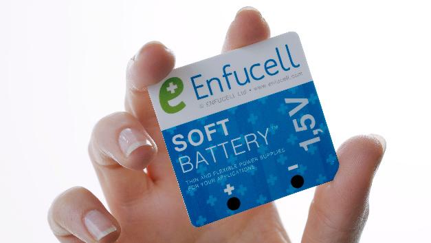Enfucell hat die umweltfreundliche Energiequelle »SoftBattery« entwickelt, die druckbar, dünn und biegsam ist. Molex hat jetzt eine Lizenz zum Drucken bekommen.